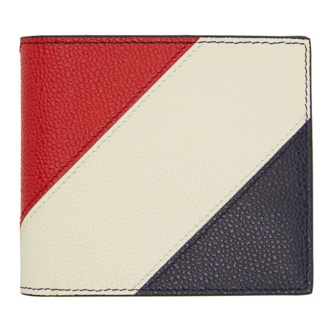 Photo: Thom Browne Navy Striped Bill Fold Wallet