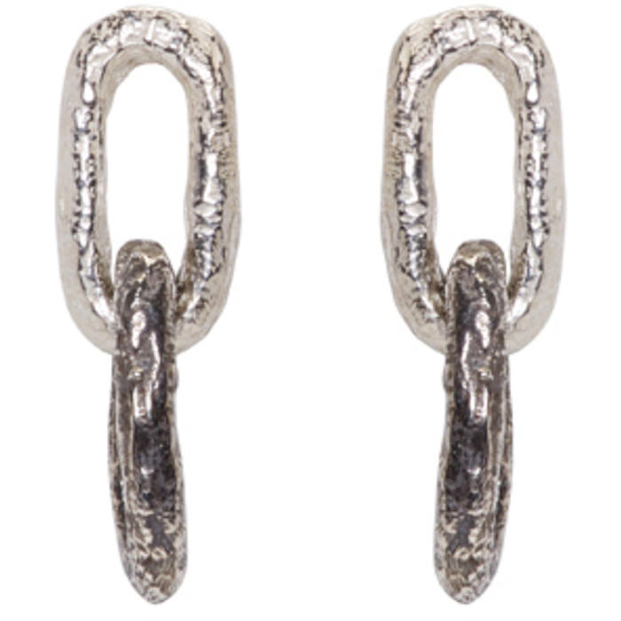 Photo: Pearls Before Swine Silver Double Link Earrings