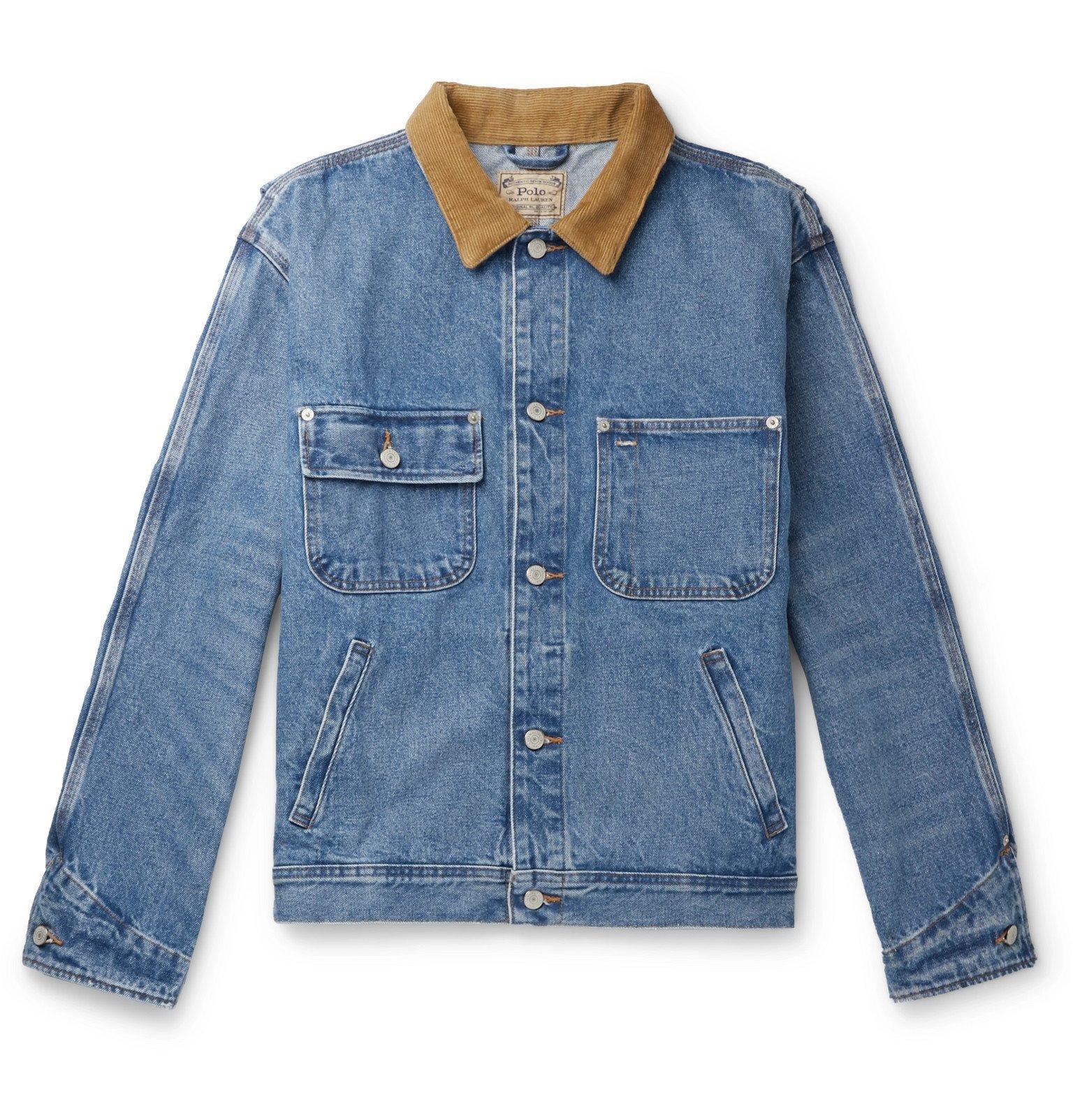Photo: Polo Ralph Lauren - Corduroy-Trimmed Denim Jacket - Blue