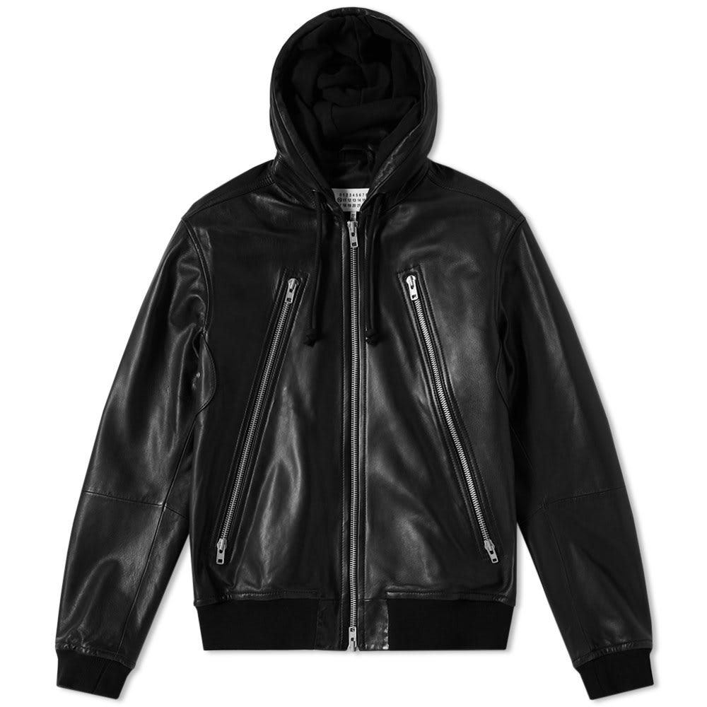 Photo: Maison Margiela 10 3 Zip Leather Hoody