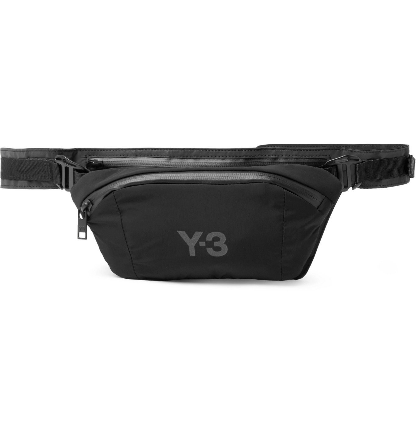 Photo: Y-3 - CH1 Logo-Print Shell Belt Bag - Gray