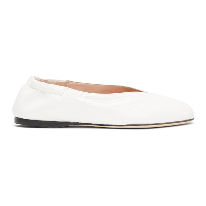 Acne Studios White Oddry Ballerina Flats