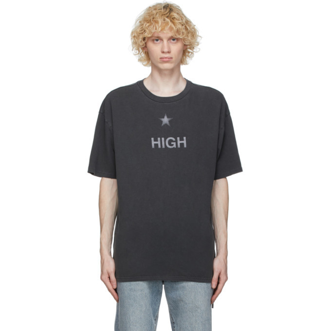 Ksubi Grey Washed High T-Shirt