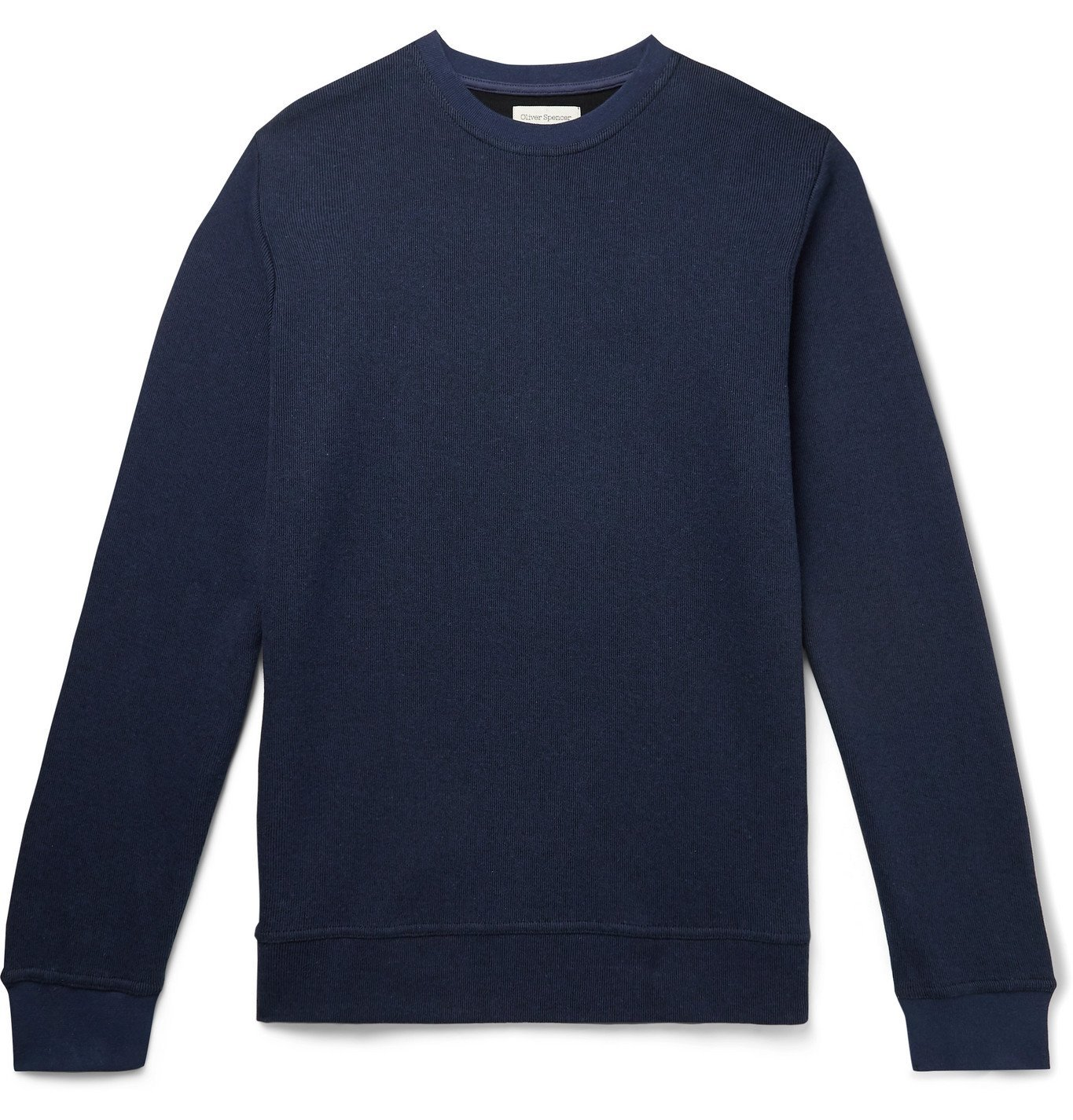 Photo: Oliver Spencer Loungewear - House Cotton-Jersey Sweatshirt - Blue