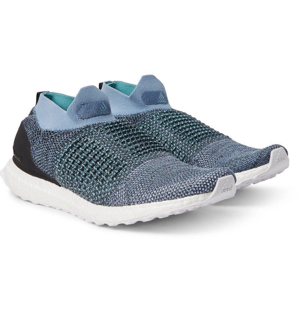 adidas Originals - Parley UltraBOOST Primeknit Slip-On Sneakers - Blue