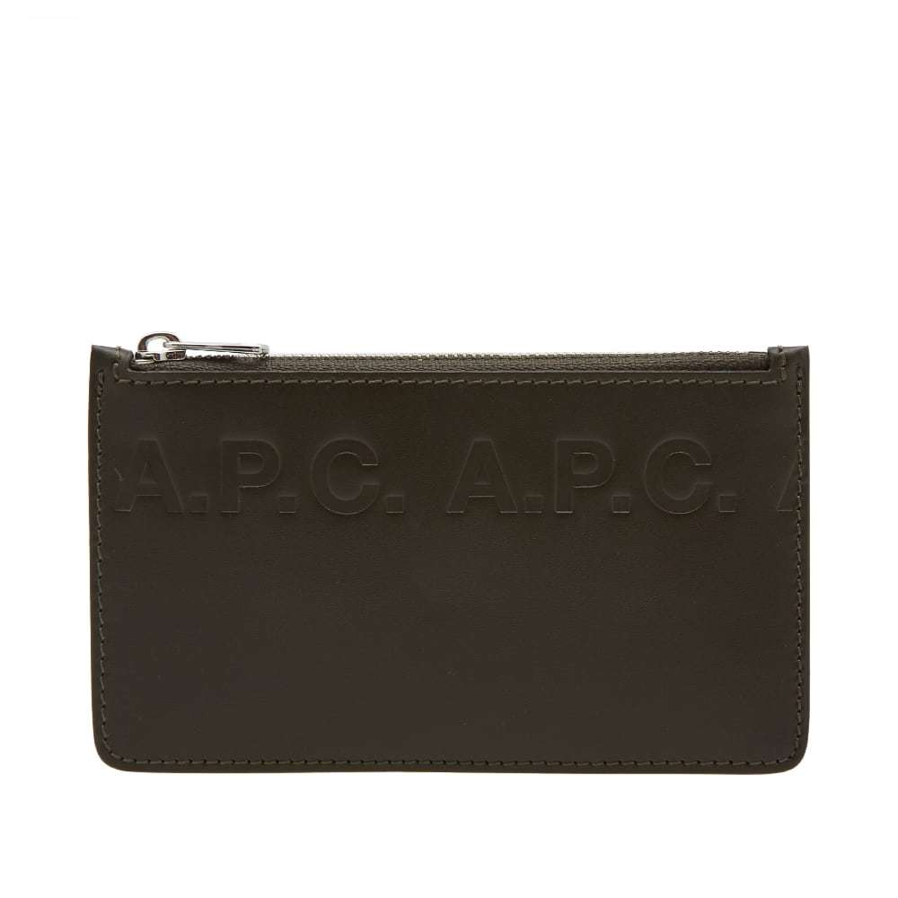 Photo: A.P.C. Walter Logo Leather Card Wallet
