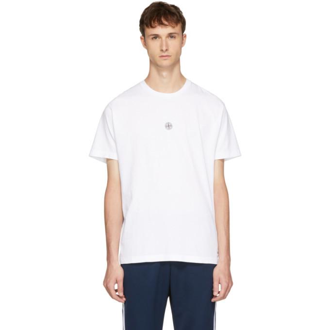 Photo: Stone Island White Logo T-Shirt