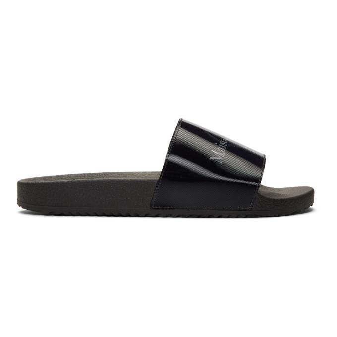 Photo: Maison Margiela Black Logo Sandals