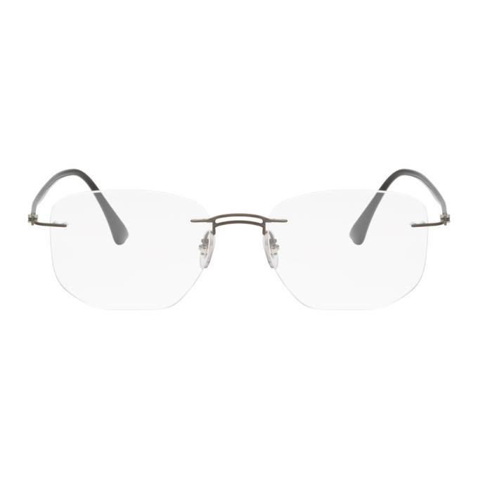 Photo: Ray-Ban Black Frameless Titanium Glasses