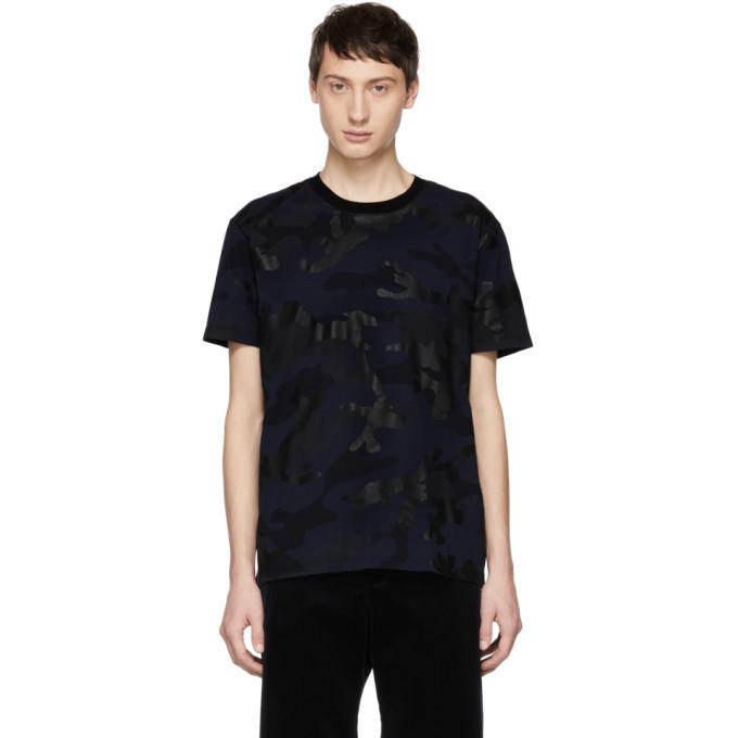 Photo: Valentino Navy Camo T-Shirt
