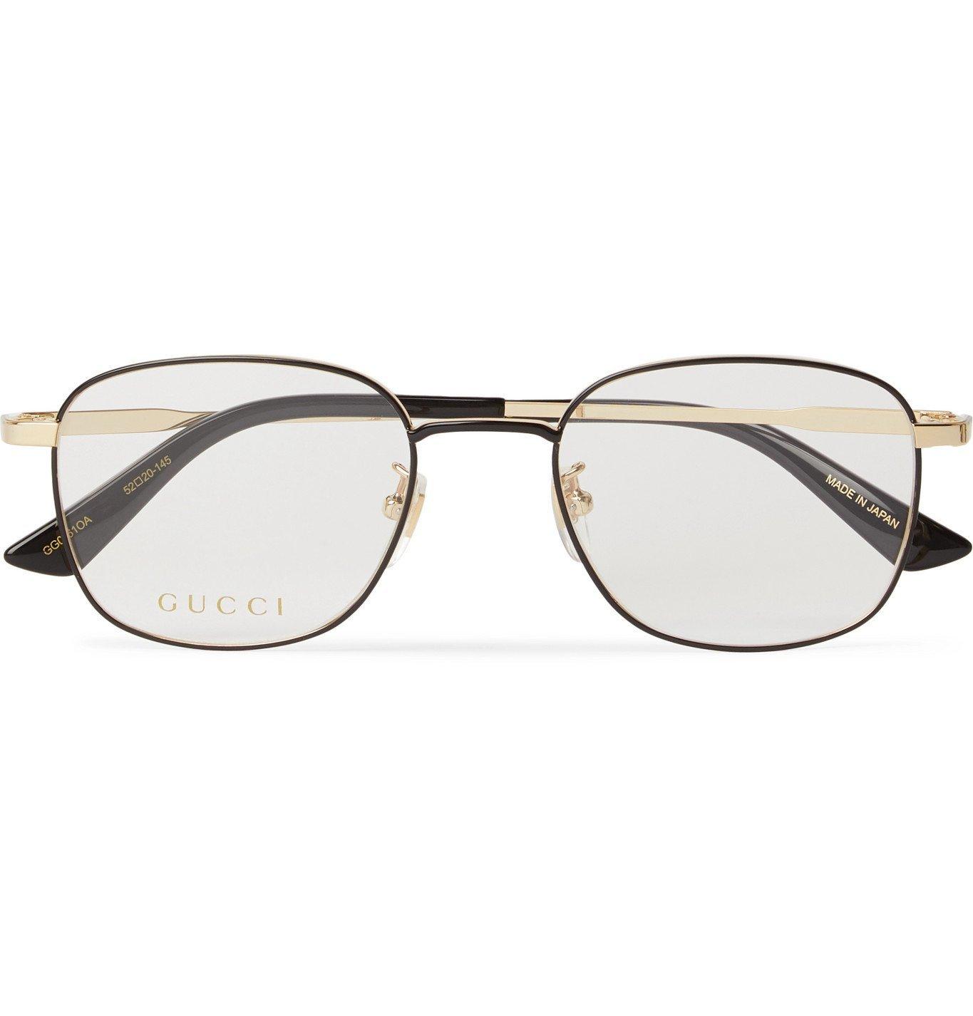 Photo: Gucci - Square-Frame Gold-Tone Optical Glasses - Gold