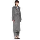 Nina Ricci Grey Corduroy Coat