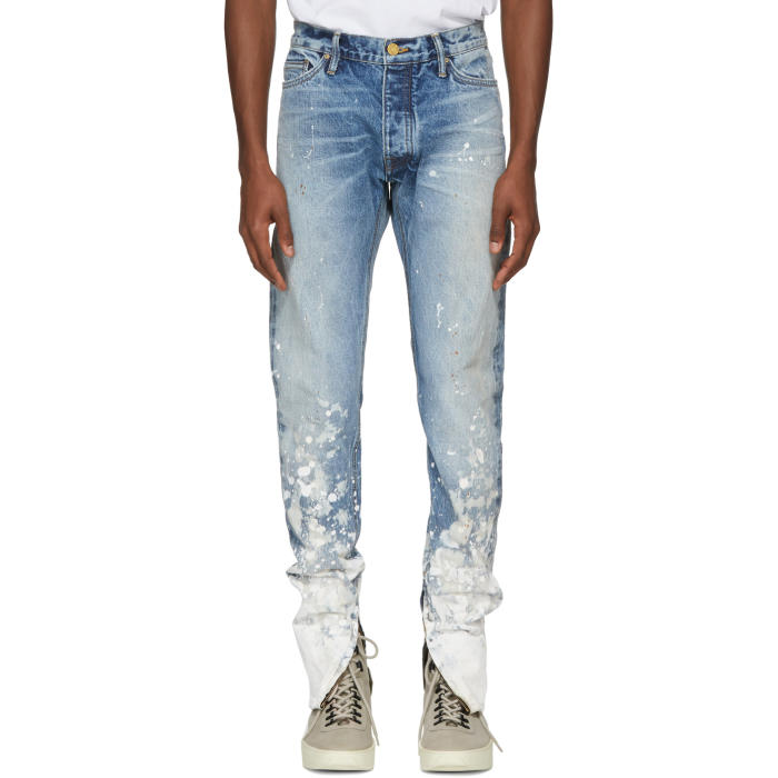 Photo: Fear of God Indigo Painters Jeans