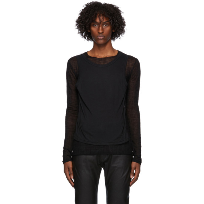 Photo: Ann Demeulemeester Black Layered Long Sleeve T-Shirt