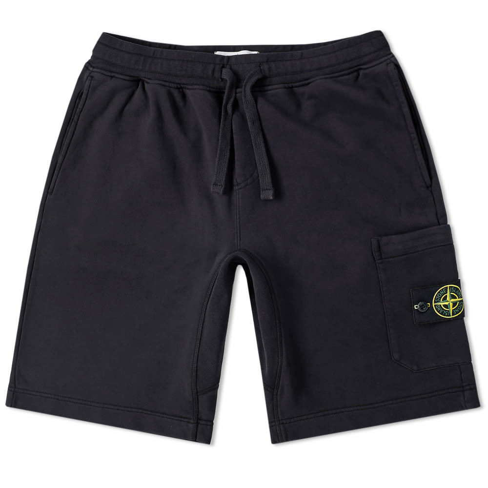 Photo: Stone Island Garment Dyed Sweat Short Navy