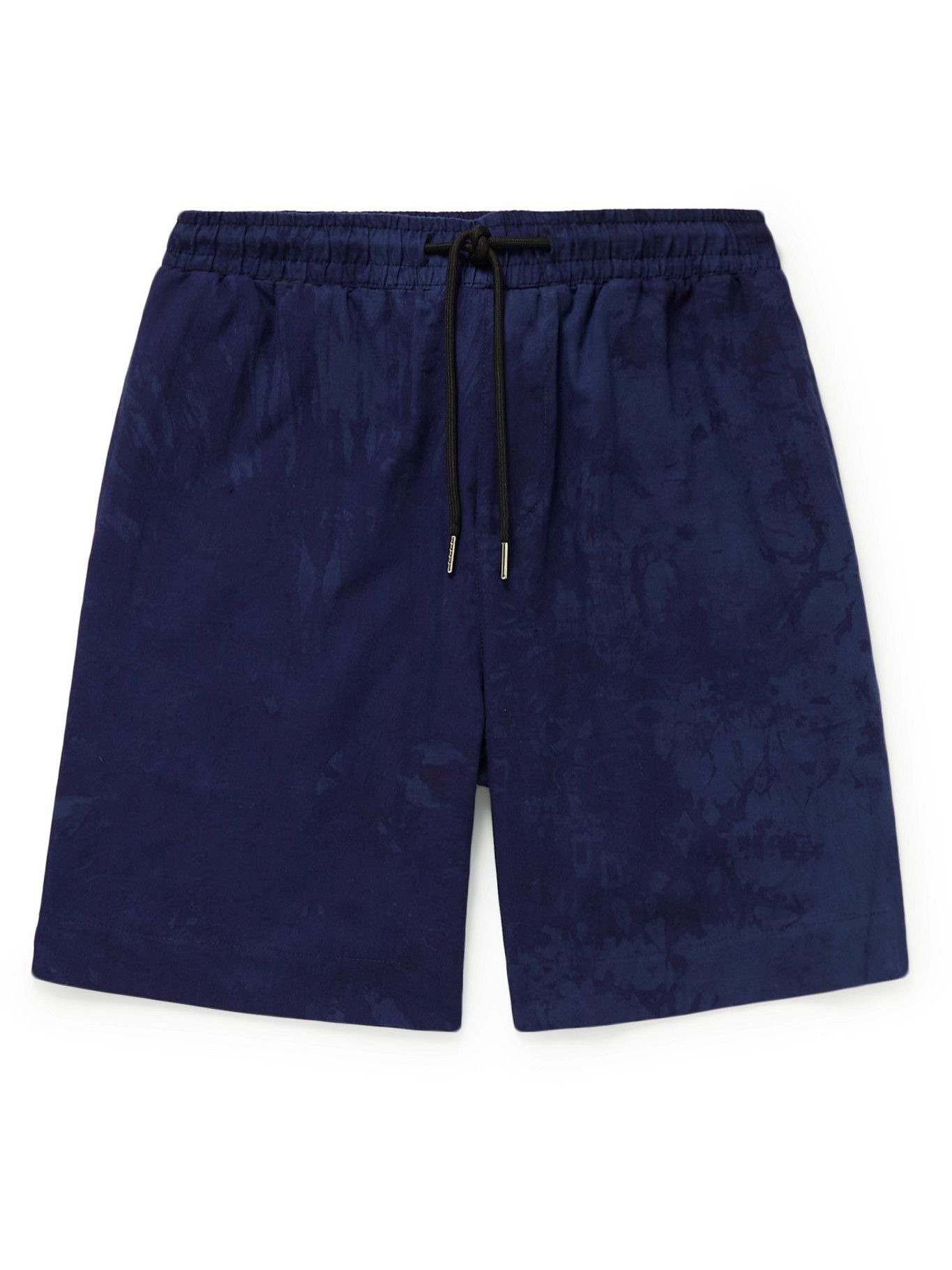 Photo: Post-Imperial - Ikeja Printed Cotton Shorts - Blue