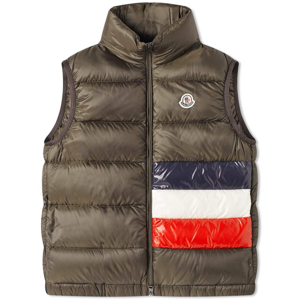 Photo: Moncler Sovex Tricolore Band Down Gilet
