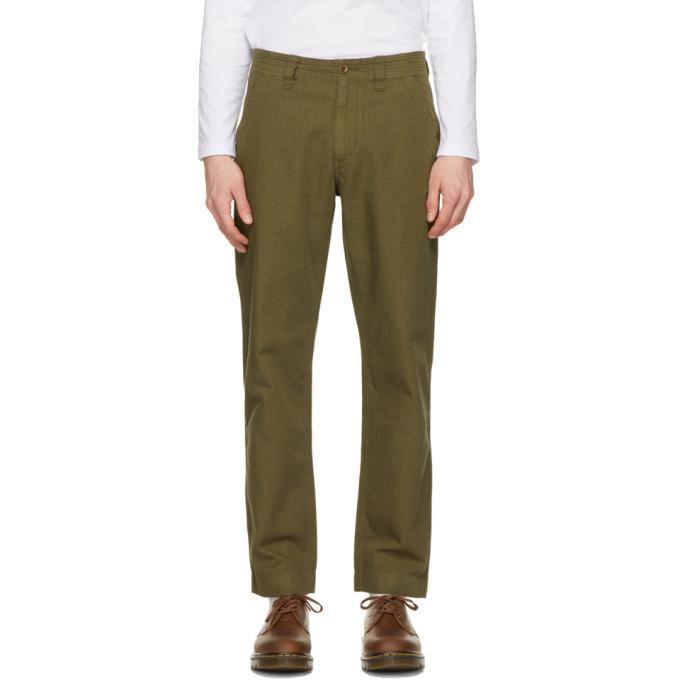 Photo: Belstaff Khaki Crewman Military Trousers