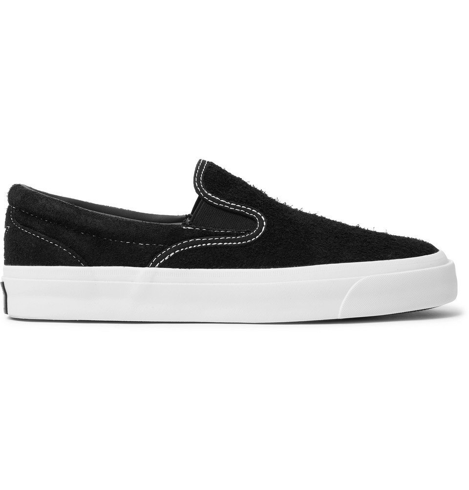 Photo: Converse - One Star CC Suede Slip-On Sneakers - Black