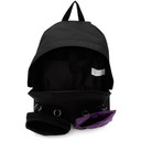 Raf Simons SSENSE Exclusive Black and Purple Eastpak Edition Quote Backpack
