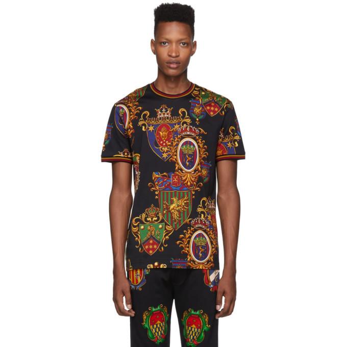 Photo: Dolce and Gabbana Black Stemmi 3 Printed T-Shirt