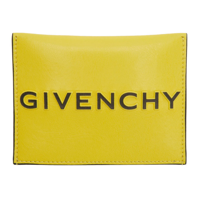 Photo: Givenchy Yellow and Black Reverse Logo Card Holder