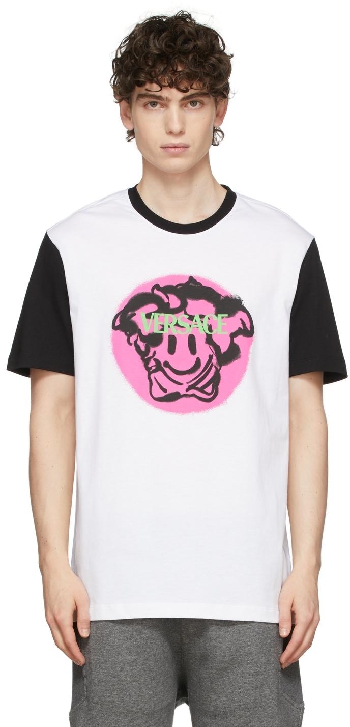 Photo: Versace White Spray Logo T-Shirt