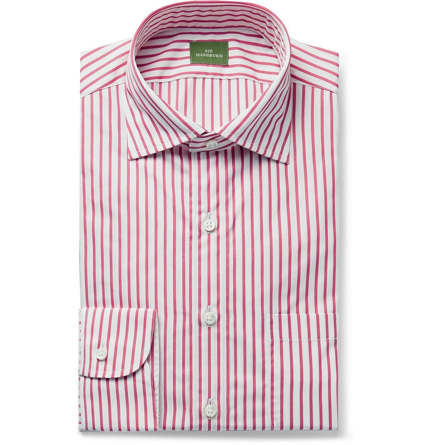 Photo: Sid Mashburn - Button-Down Collar Striped Cotton-Poplin Shirt - Red