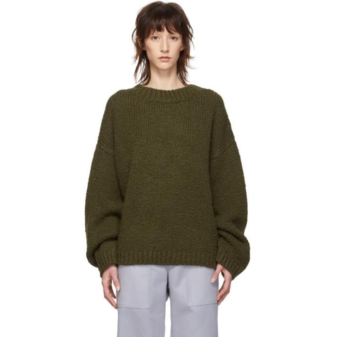 Photo: Bottega Veneta Green Alpaca Wool Crewneck Sweater