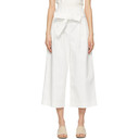 3.1 Phillip Lim White Cropped Paperbag Trousers