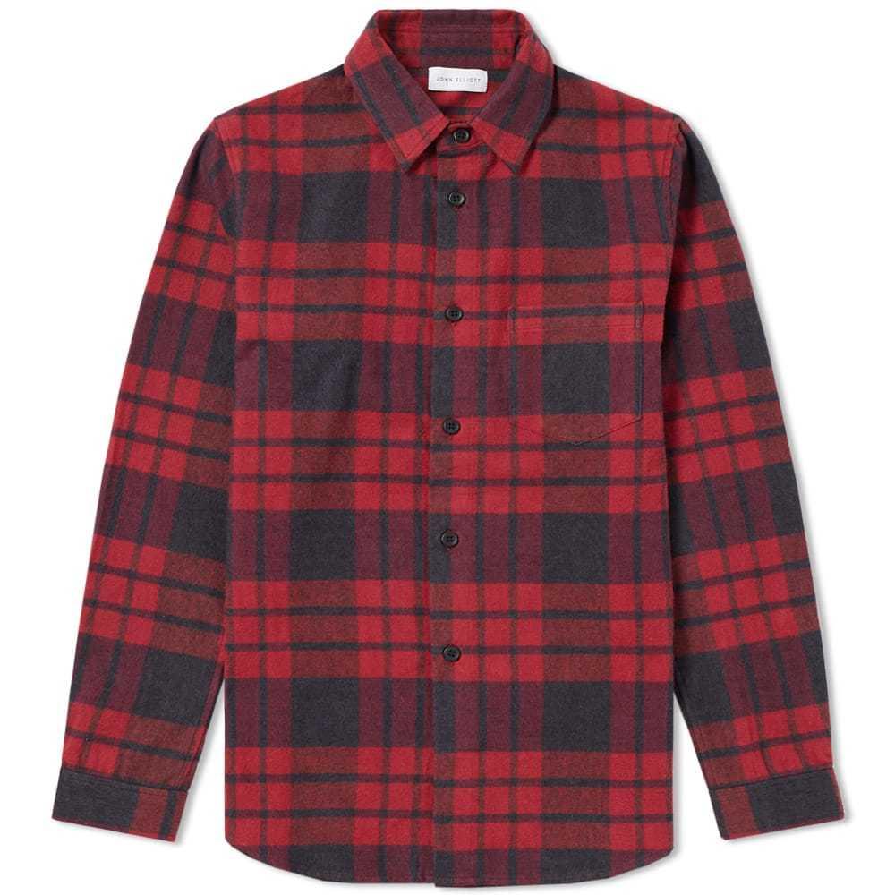 Photo: John Elliott Brushed Flannel Shirt Red