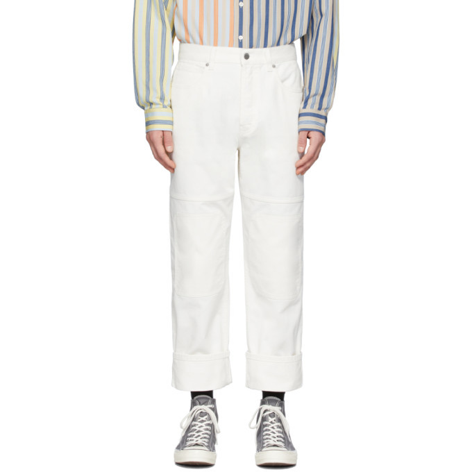 Photo: JW Anderson Off-White Patched Jeans