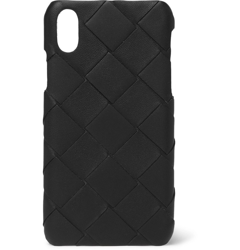 Photo: Bottega Veneta - Intrecciato Leather iPhone X Case - Black