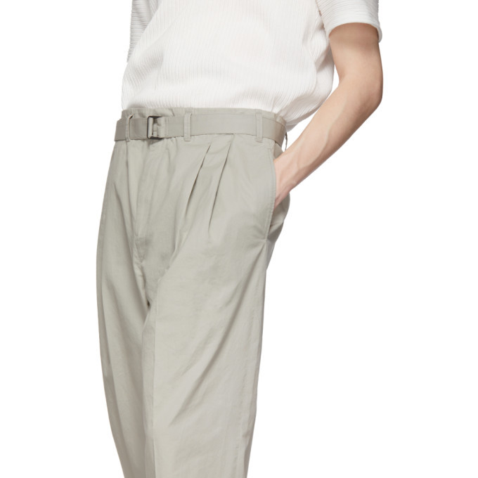 Lemaire Grey Pleated Trousers