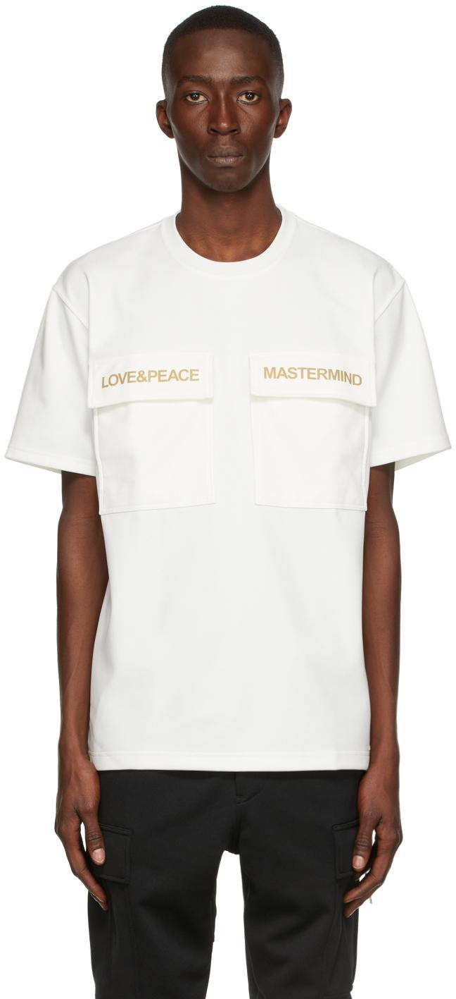 Photo: mastermind WORLD White 2 Pockets T-Shirt