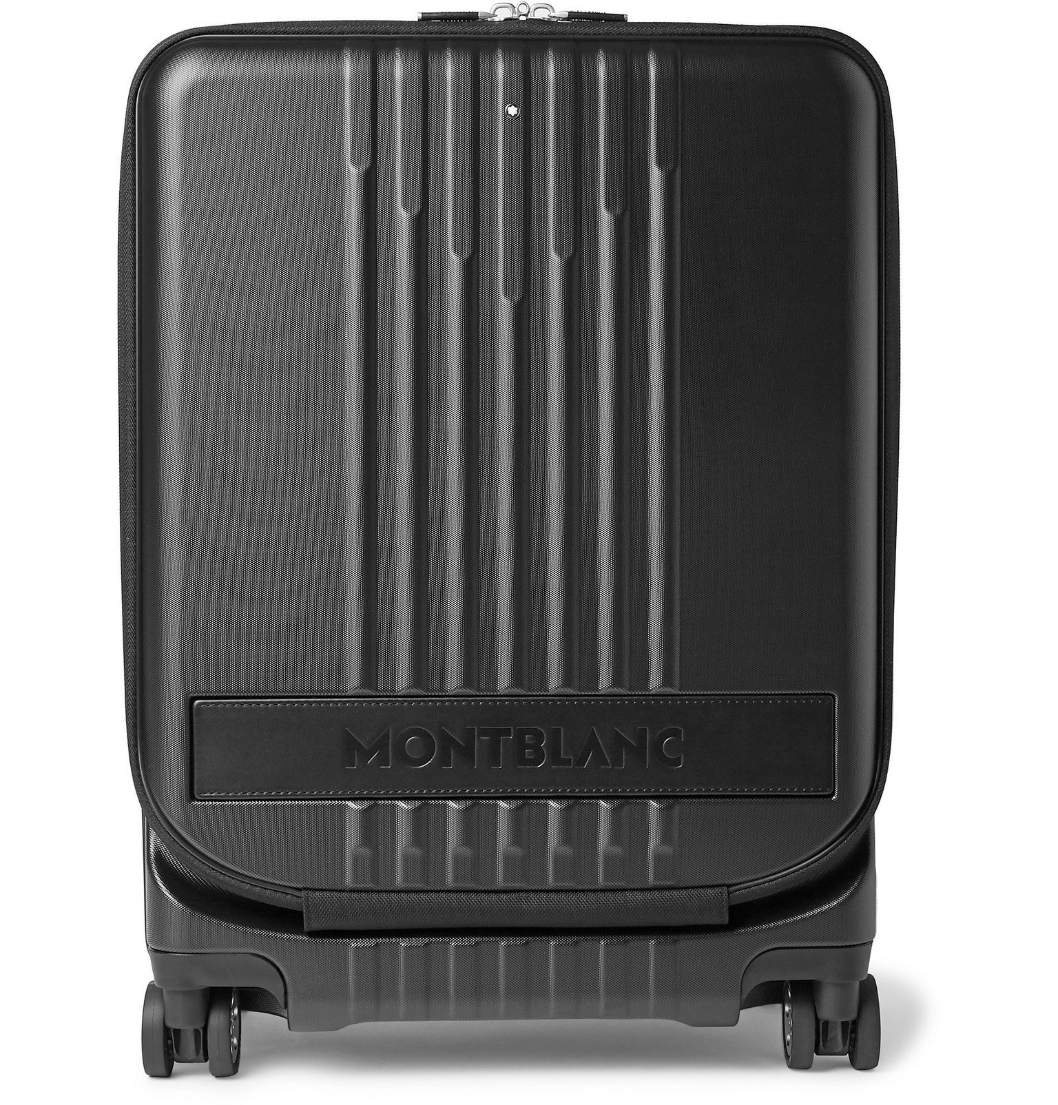 Photo: Montblanc - #MY4810 Cabin Leather-Trimmed Polycarbonate Suitcase - Black