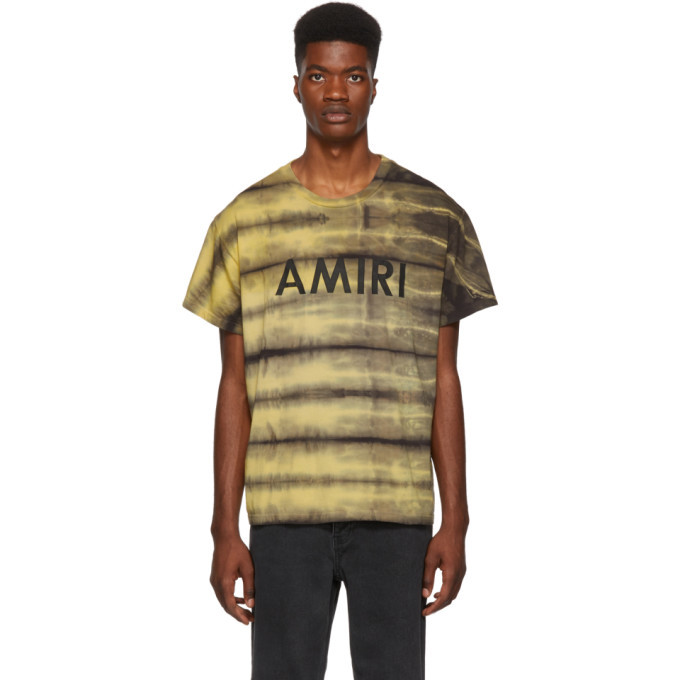 Photo: Amiri Yellow Tie-Dye T-Shirt