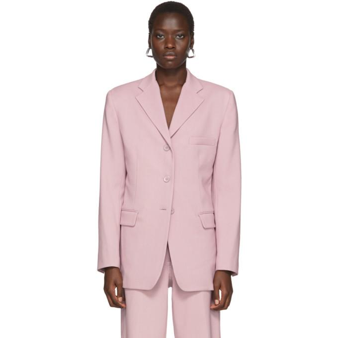 Photo: Sies Marjan Pink Wool Canvas Molly Oversized Blazer