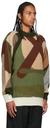 Sacai Green KAWS Edition Intarsia Camo Sweater