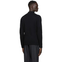 Dunhill Black Engineered Ribbed Racer Sweater