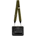 3.1 Phillip Lim Black Croc Ray Triangle Crossbody Bag