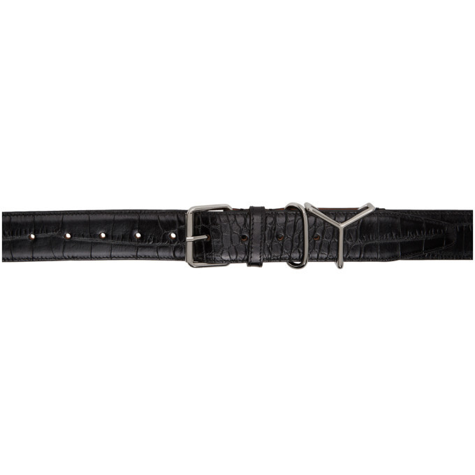 Photo: Y/Project Black Croc Logo Belt