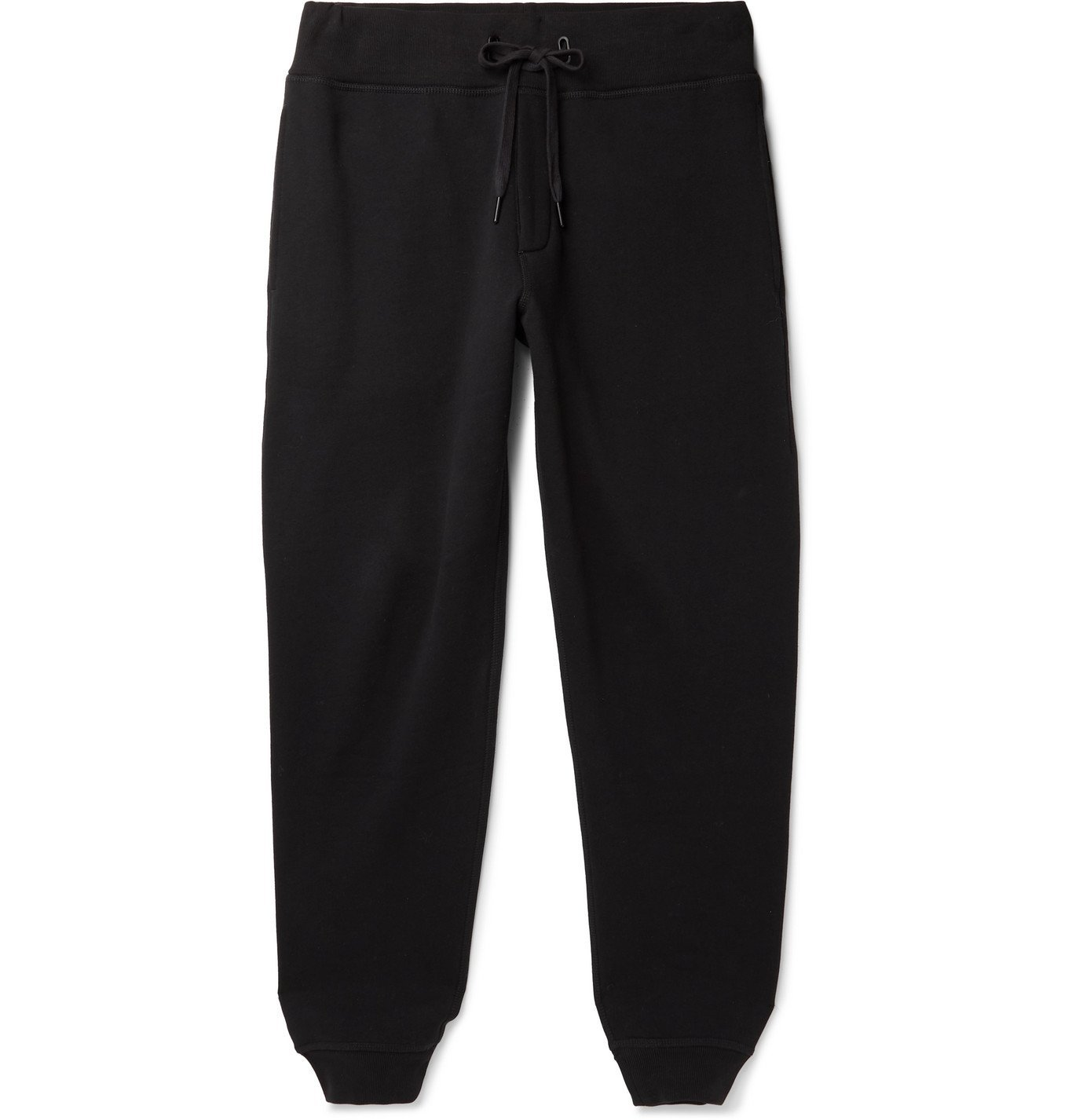 Photo: rag & bone - Damon Fleece-Back Cotton-Blend Jersey Sweatpants - Black