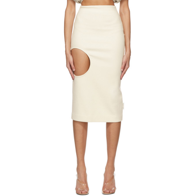 Photo: Off-White Off-White Wool Open Circle Skirt