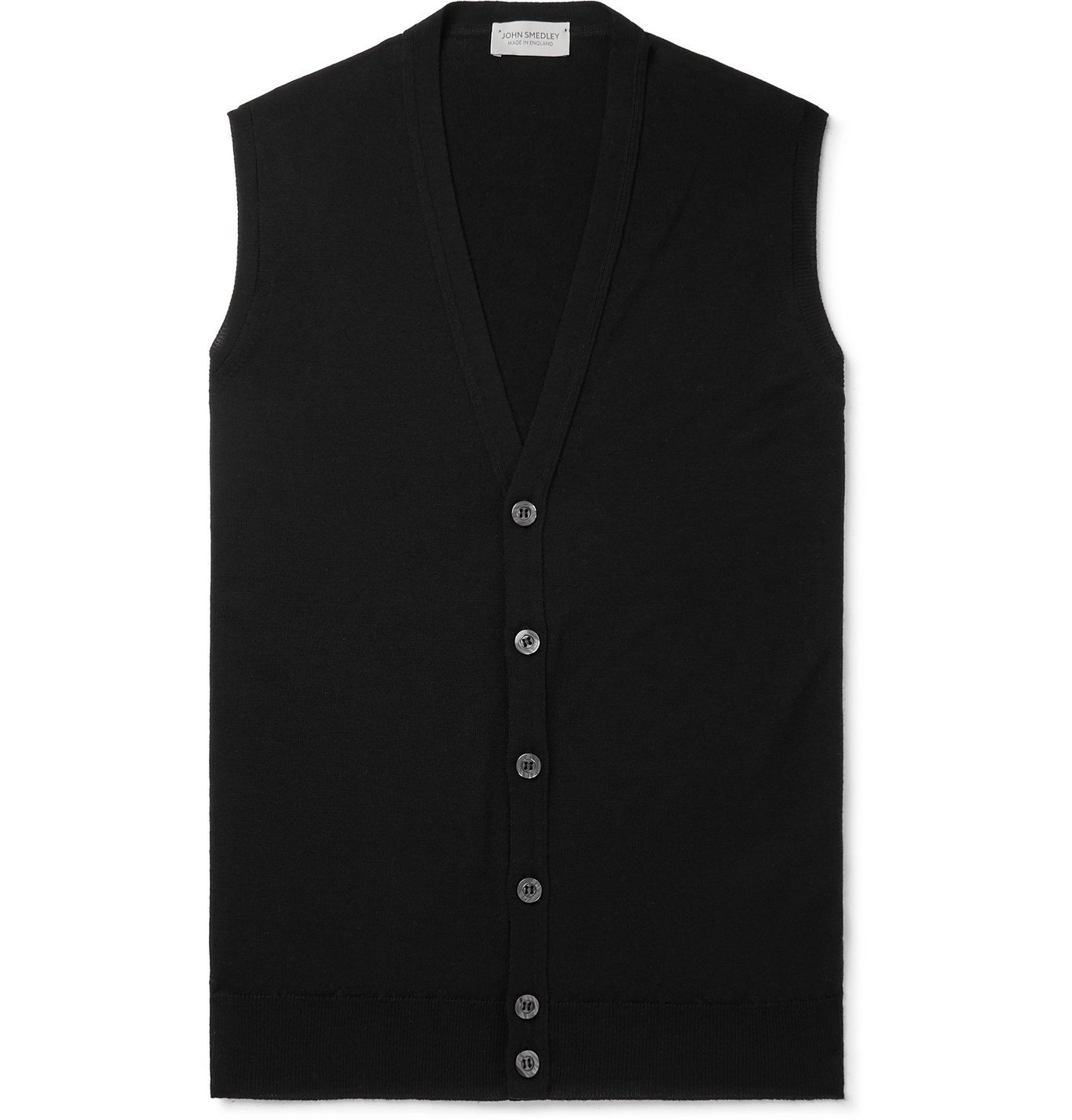Photo: John Smedley - Stavely Merino Wool Sweater Vest - Black