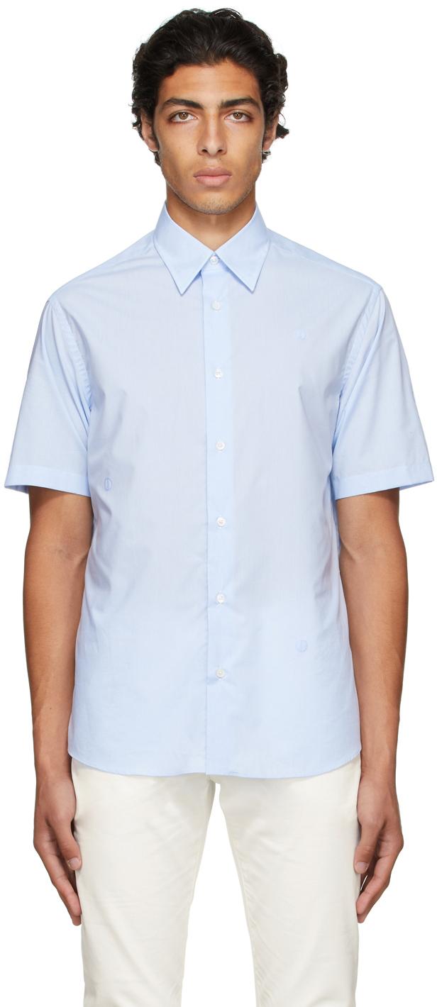 Photo: Dunhill Blue D-Series Short Sleeve Shirt