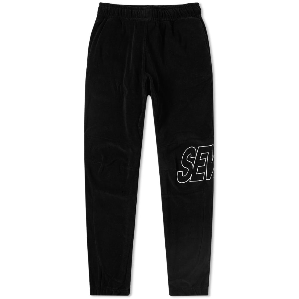 Photo: Sever Embroidered Velour Jogger Black