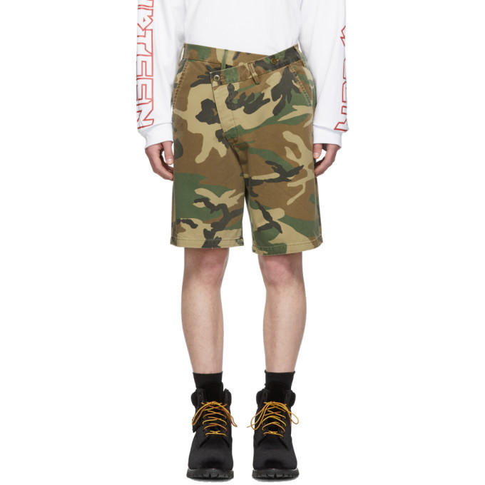 Photo: R13 Brown Camo Crossover Shorts