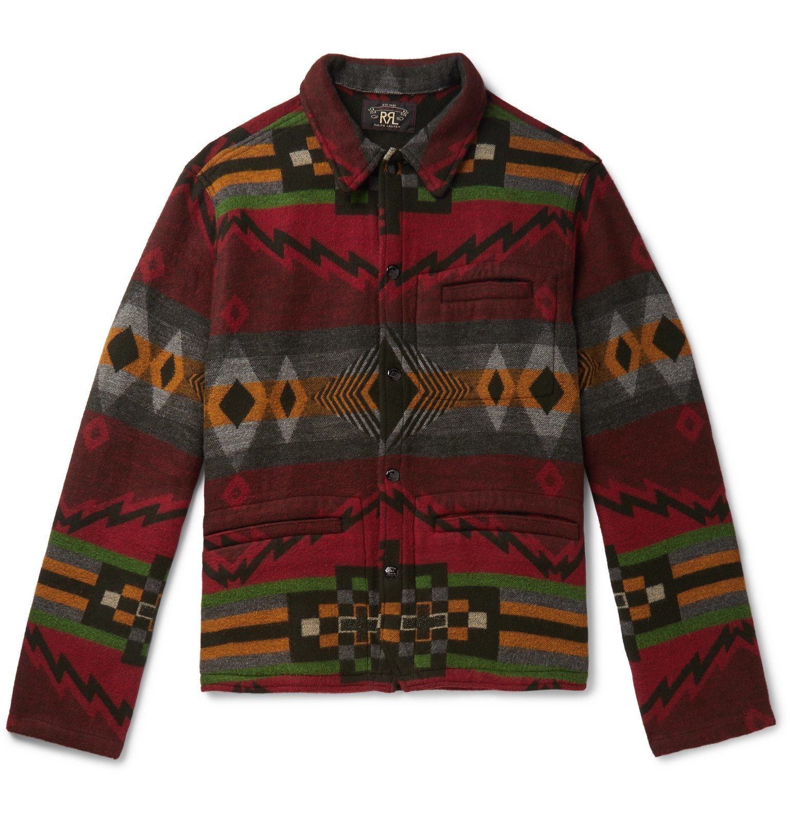 RRL - Brushed Cotton and Wool-Blend Jacquard Overshirt - Multi