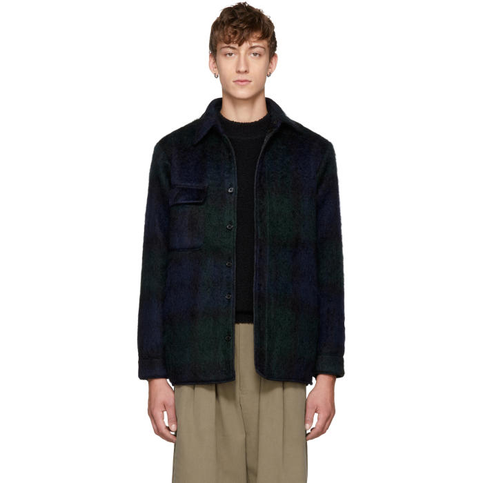 Photo: Bless Reversible Navy and Green Mohair Woodhacker Jacket